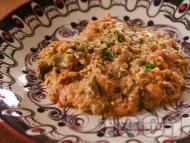 Рецепта Вкусен миш маш - класическа рецепта със зелени чушки, яйца и сирене
